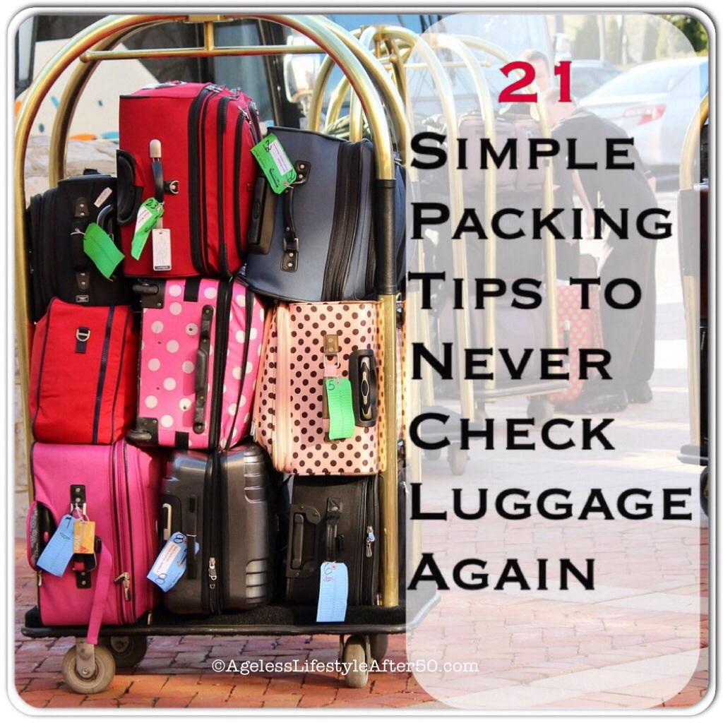 Packing tips to never check luggage again