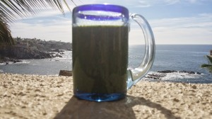 green drink ocean