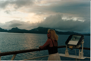 Lynn on ship Bora Bora