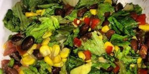 healthy vegan recipe black bean salad