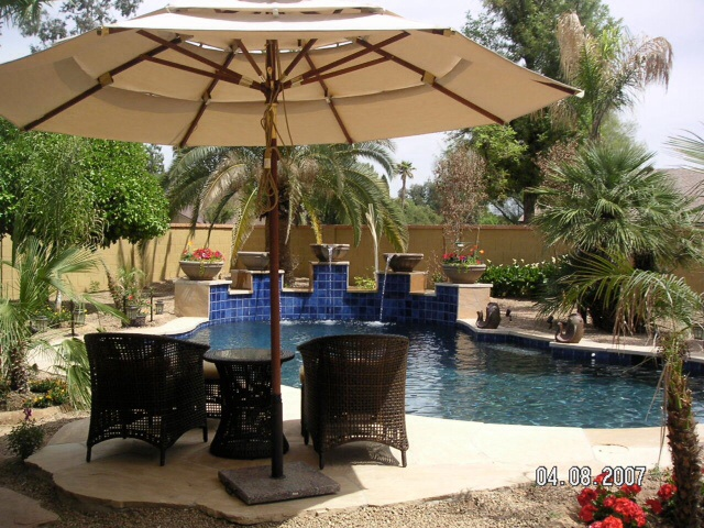 Scottsdale house pool