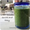 How to Make Green Drinks