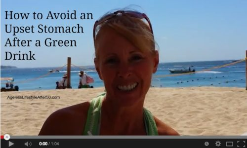 fix upset stomach from green drinks