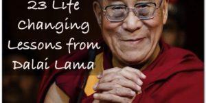 Dalai Lama 23 life lessons