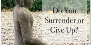 Surrender or Give Up