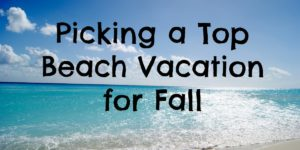 fall beach vacation