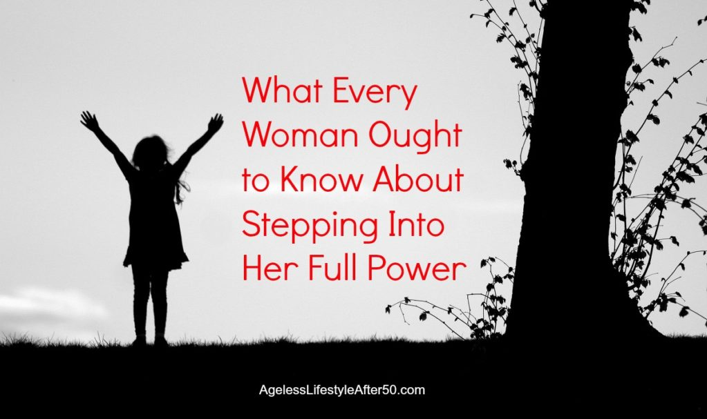 woman stepping into her full power