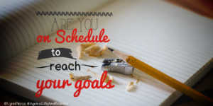 Are you on schedule to reach your goals