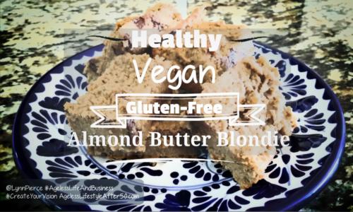 Healthy Vegan Gluten-Free Almond Butter Blondie Recipe
