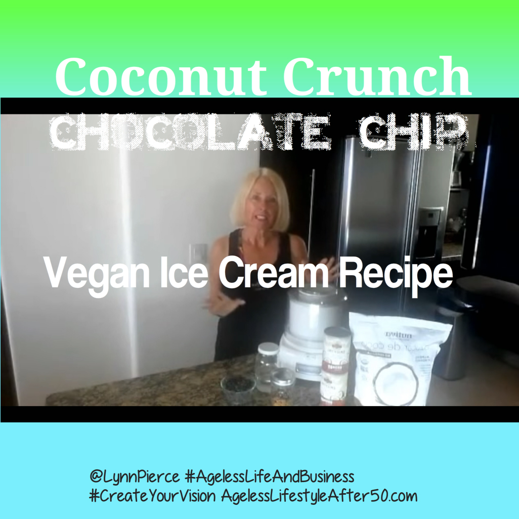 Coconut Crunch Chocolate Chip Vegan Ice Cream Recipe