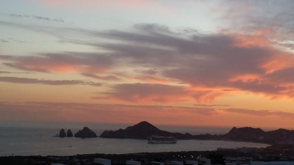Cabo San Lucas bay sunset