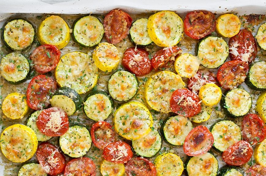 roasted-garlic-parmesan-squash-zucchini-and-tomatoes