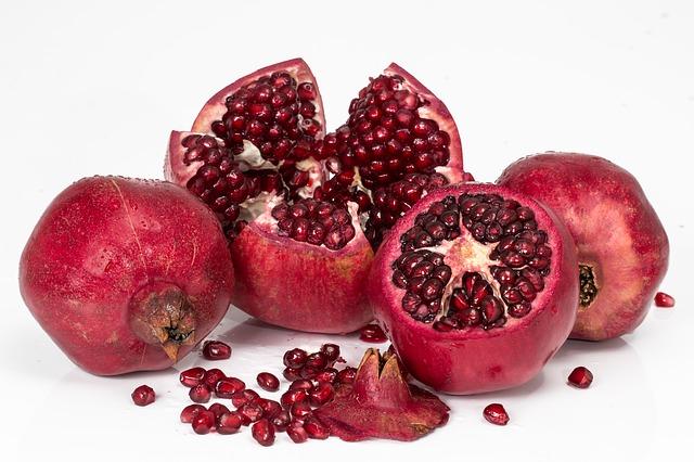 pomegranate, fruit, seeds